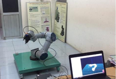 Hệ thống robot khi hoàn thành