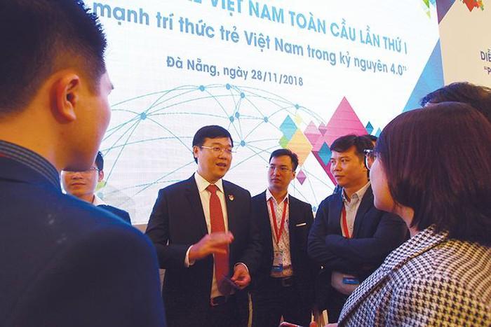 Các đại biểu tại Diễn đàn Trí thức trẻ Việt Nam toàn cầu 2018. Ảnh: Tấn Lực