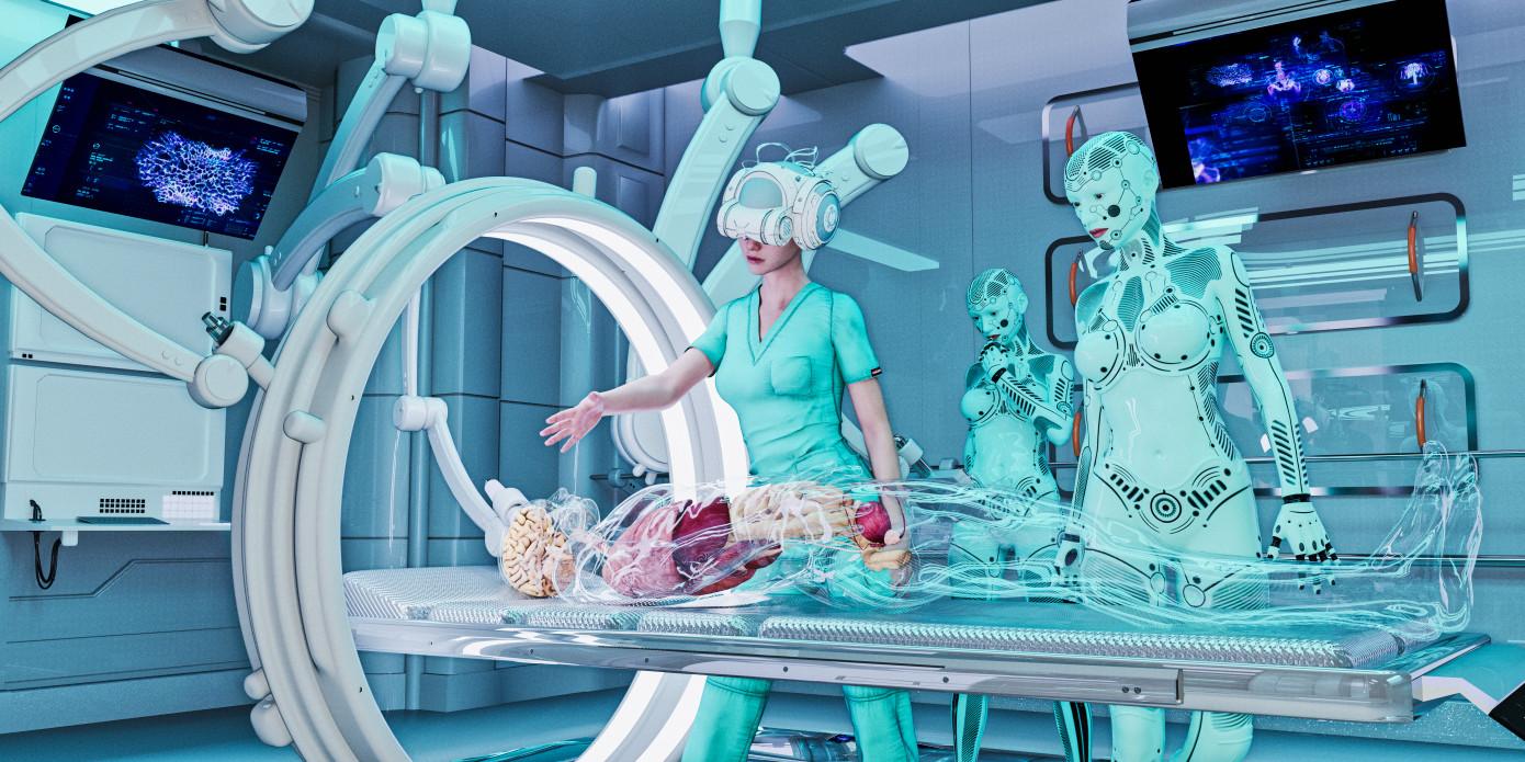 Ý tưởng đột phá của Vicarious Surgical. Ảnh: TechCrunch.
