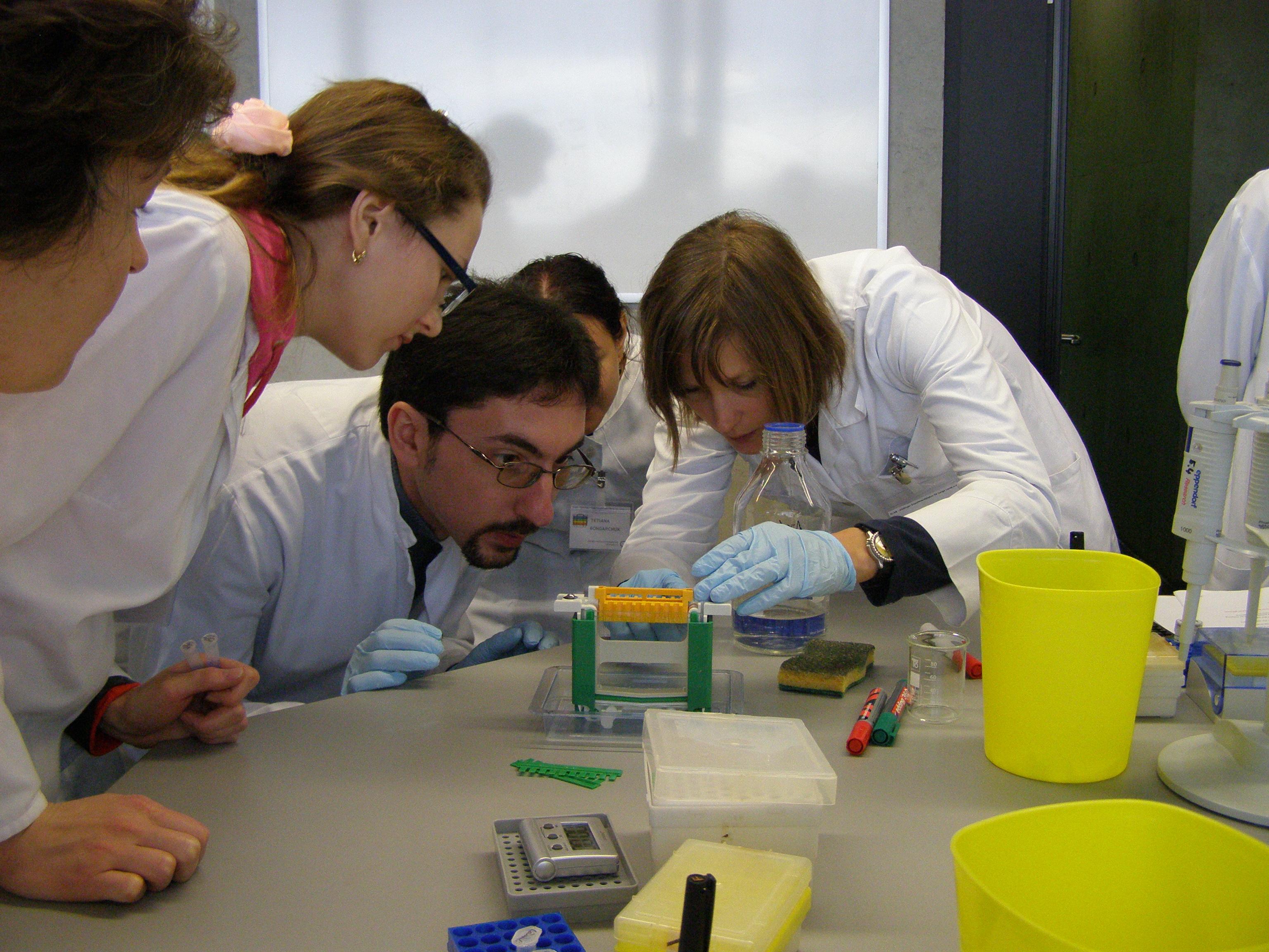 Viện hàn lâm KH Ukraine hợp tác với Đức mở khóa đào tạo giáo viên về công nghệ gene, sinh học phân tử, khoa học thần kinh nhằm khuyến khích các tài năng trẻ đến với khoa học. Nguồn: NASU.