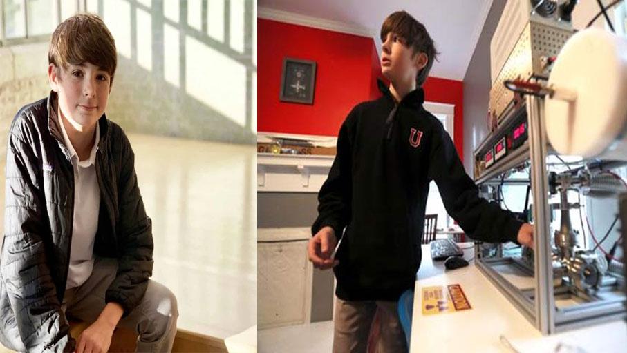 Oswalt trở thành người trẻ nhất trên thế giới lắp đặt thành công một lò phản ứng hợp hạch ở ngay tại nhà. Ảnh: Fox News.