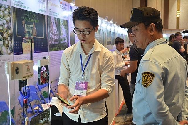 Một ứng dụng công nghệ tự động trong lĩnh vực nông nghiệp được giới thiệu tại hội chợ Techfest Vietnam 2018