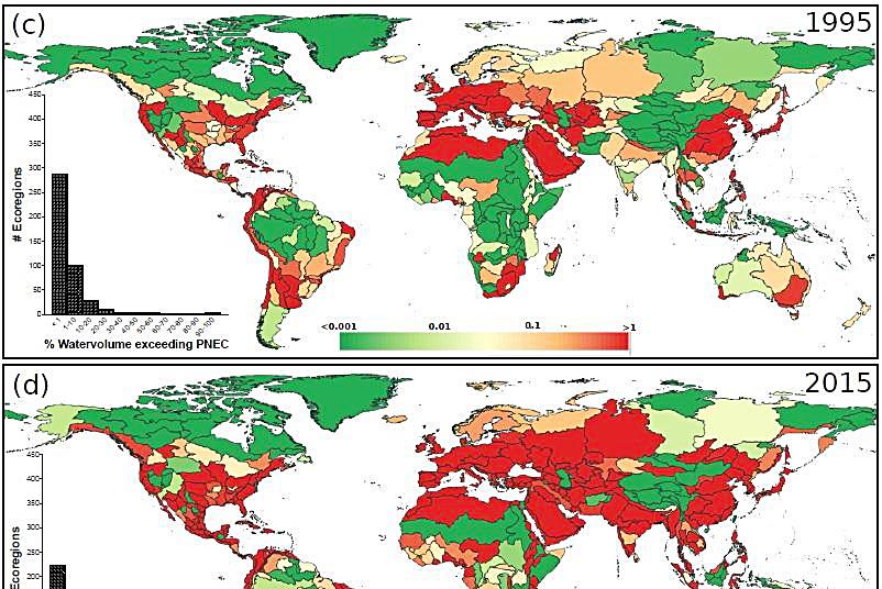 Nồng độ dược phẩm trong nước ngọt đang gia tăng trên toàn cầu. Ảnh: Rik Oldenkamp