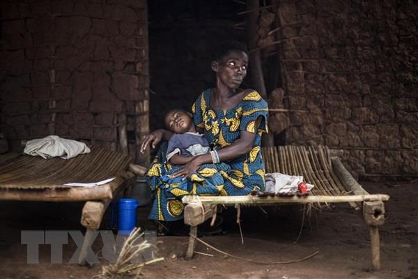 Trẻ em nhiễm sốt rét tại Muma, CHDC Congo. (Nguồn: AFP/TTXVN)