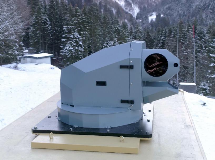 Tháp pháo laser mà hãng Rheinmetall vừa thử nghiệm thành công ở Thụy Sĩ. Ảnh: Rheinmetall.