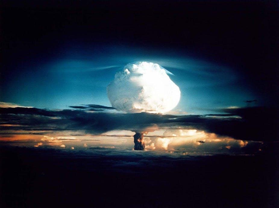 Vụ thử bom nhiệt hạch Ivy Mike tại Nevada (Mỹ) năm 1952. Ảnh: Wikimedia.