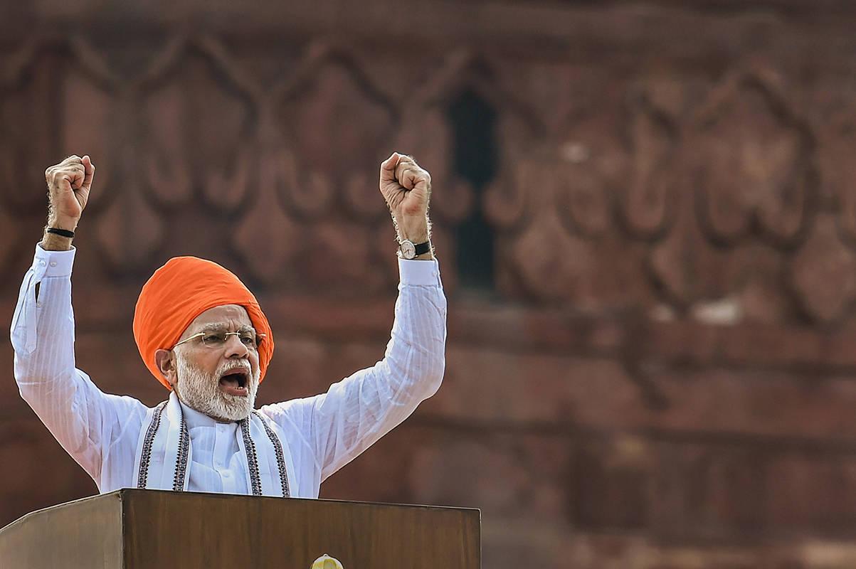 Thủ tướng Modi phát biểu trong mít tinh kỷ niệm ngày Độc lập 15/8/2018 về mục tiêu đưa người Ấn Độ lên vũ trụ vào năm 2022. Nguồn: The Times of India.