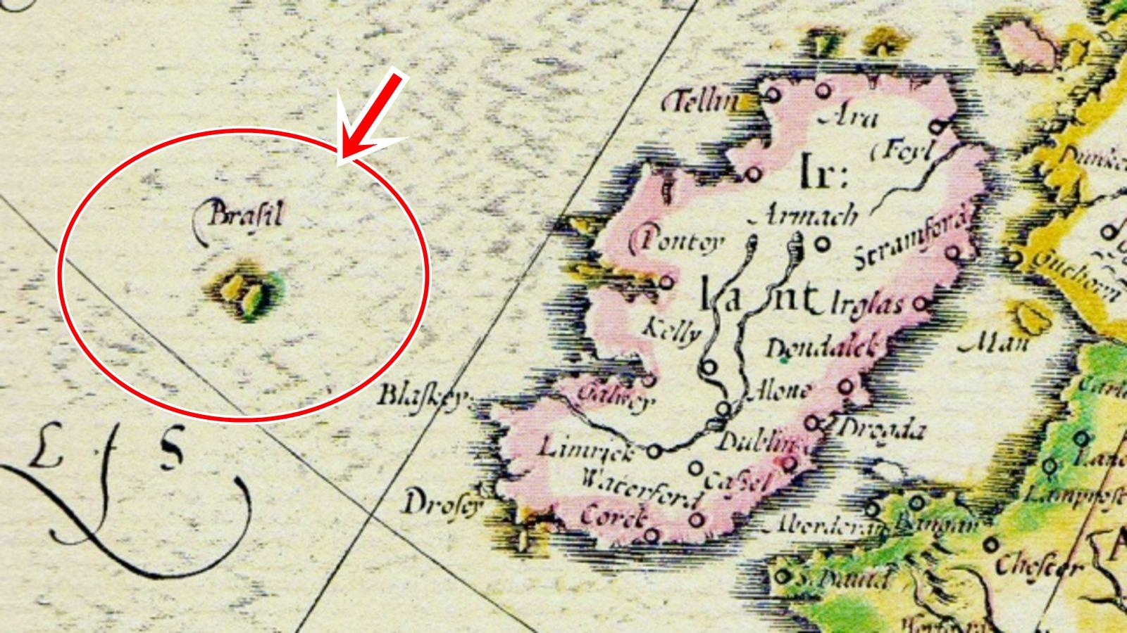 Đảo Hy-Brasil lần đầu tiên xuất hiện trên một tấm bản đồ được vẽ vào năm 1325. Ảnh: History