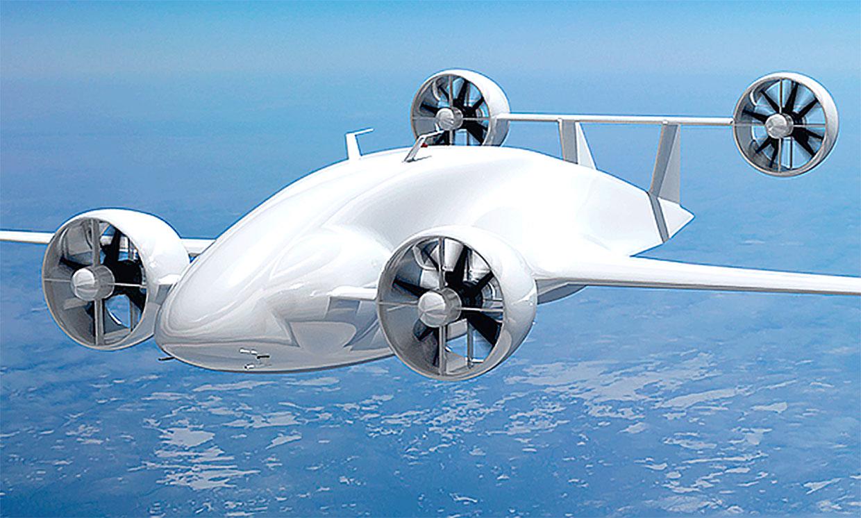 Mẫu concept drone chở hàng. Ảnh: