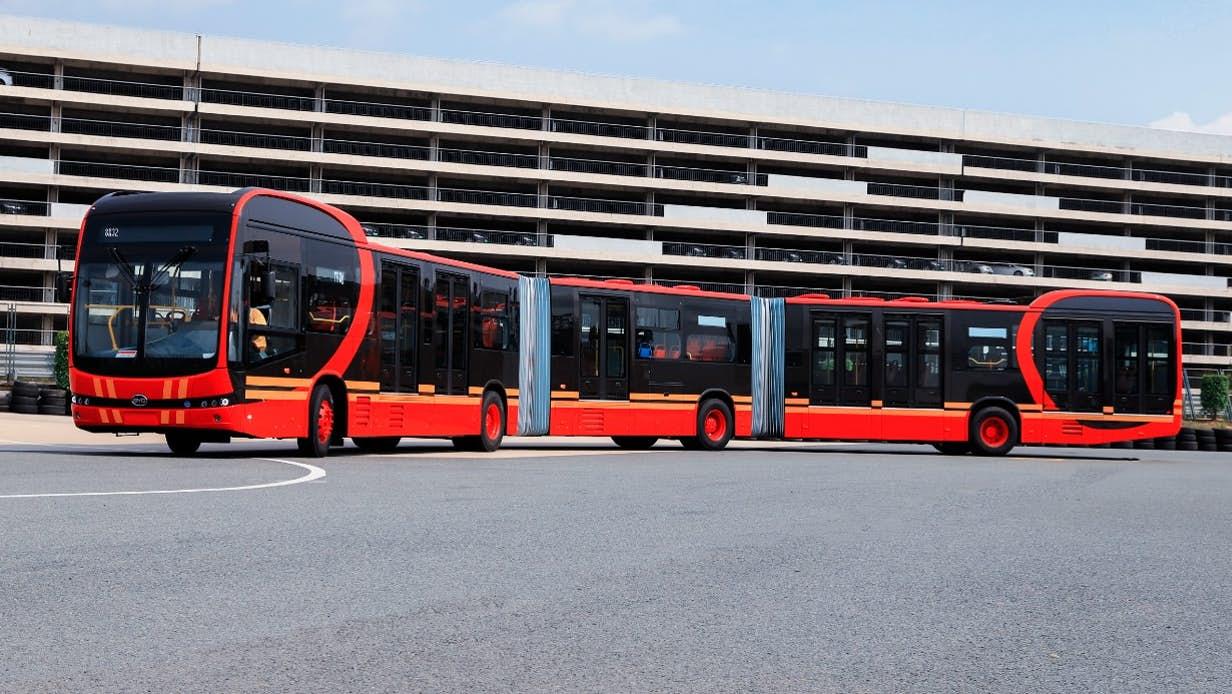 Xe bus điện BYD K12A. Nguồn: BYD Auto