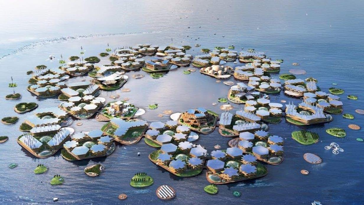 Hình minh họa Oceanix City. Nguồn: