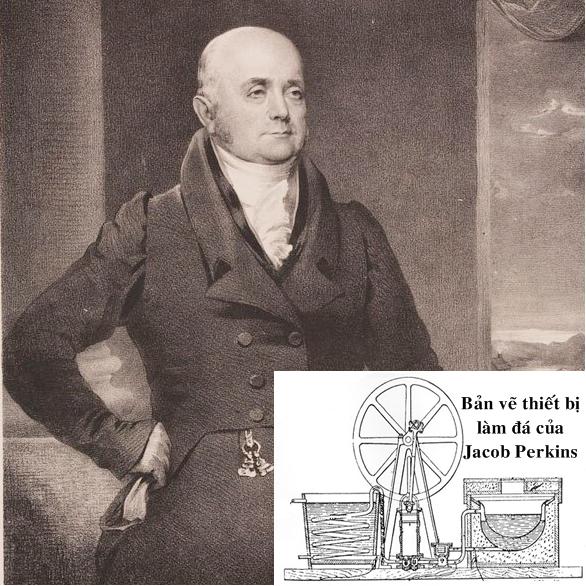 Jacob Perkins, nhà phát minh người Mỹ, được mệnh danh là cha đẻ của tủ lạnh. Ảnh: History.