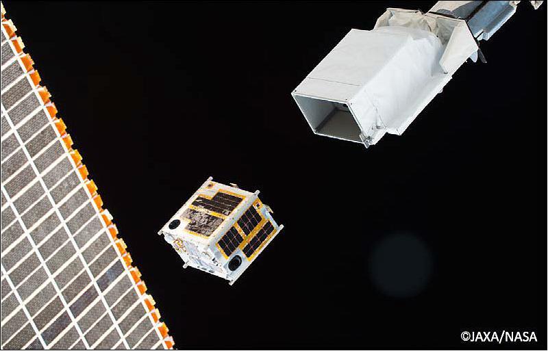 Vệ tinh Diwata-1 – vệ tinh tự thiết kế đầu tiên của Philippines được phóng ra ngoài quỹ đạo từ Trạm vũ trụ ISS (24/6/2016). Nguồn: ESA/NASA.
