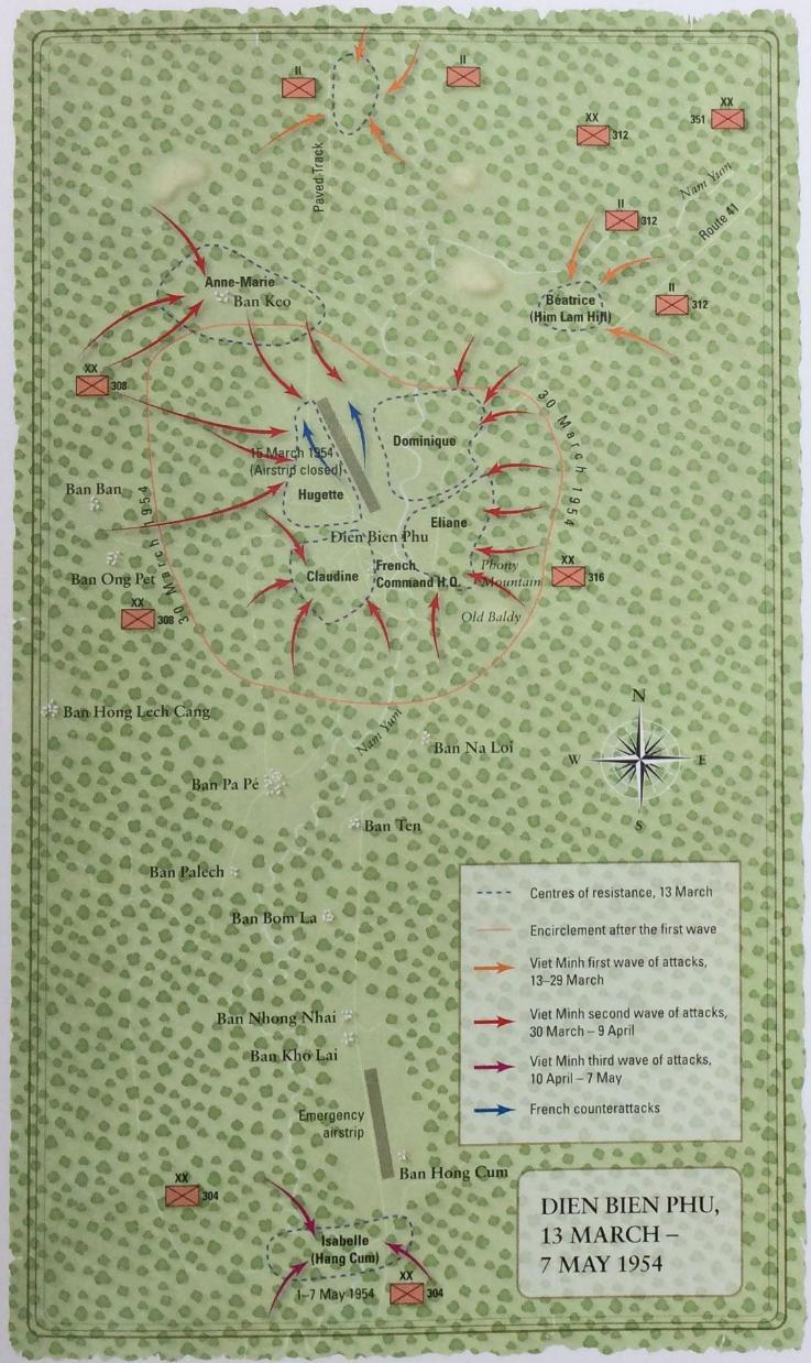 Bản đồ chiến dịch Điện Biên Phủ trong sách.