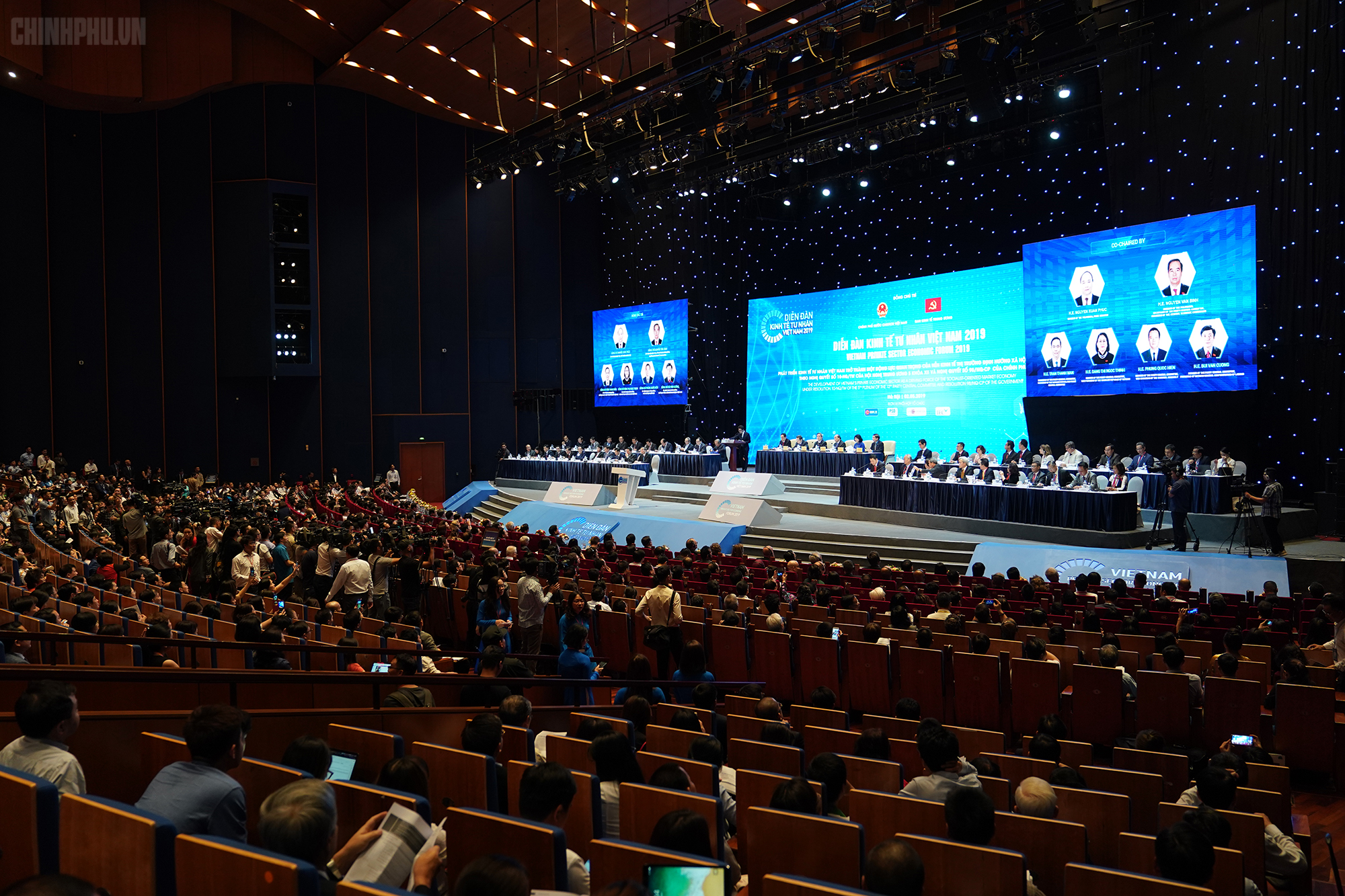 Toàn cảnh diễn đàn kinh tế tư nhân 2019 Ảnh: VGP/Quang Hiếu