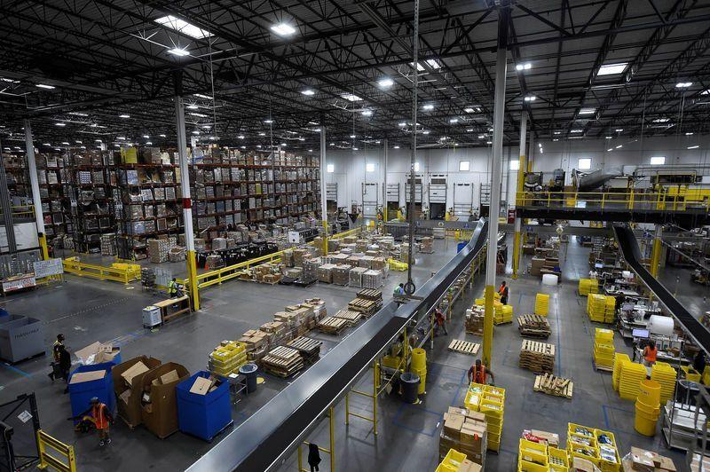 Kho hàng của Amazon tại Baltimore, bang Maryland. Ảnh: Amazon.