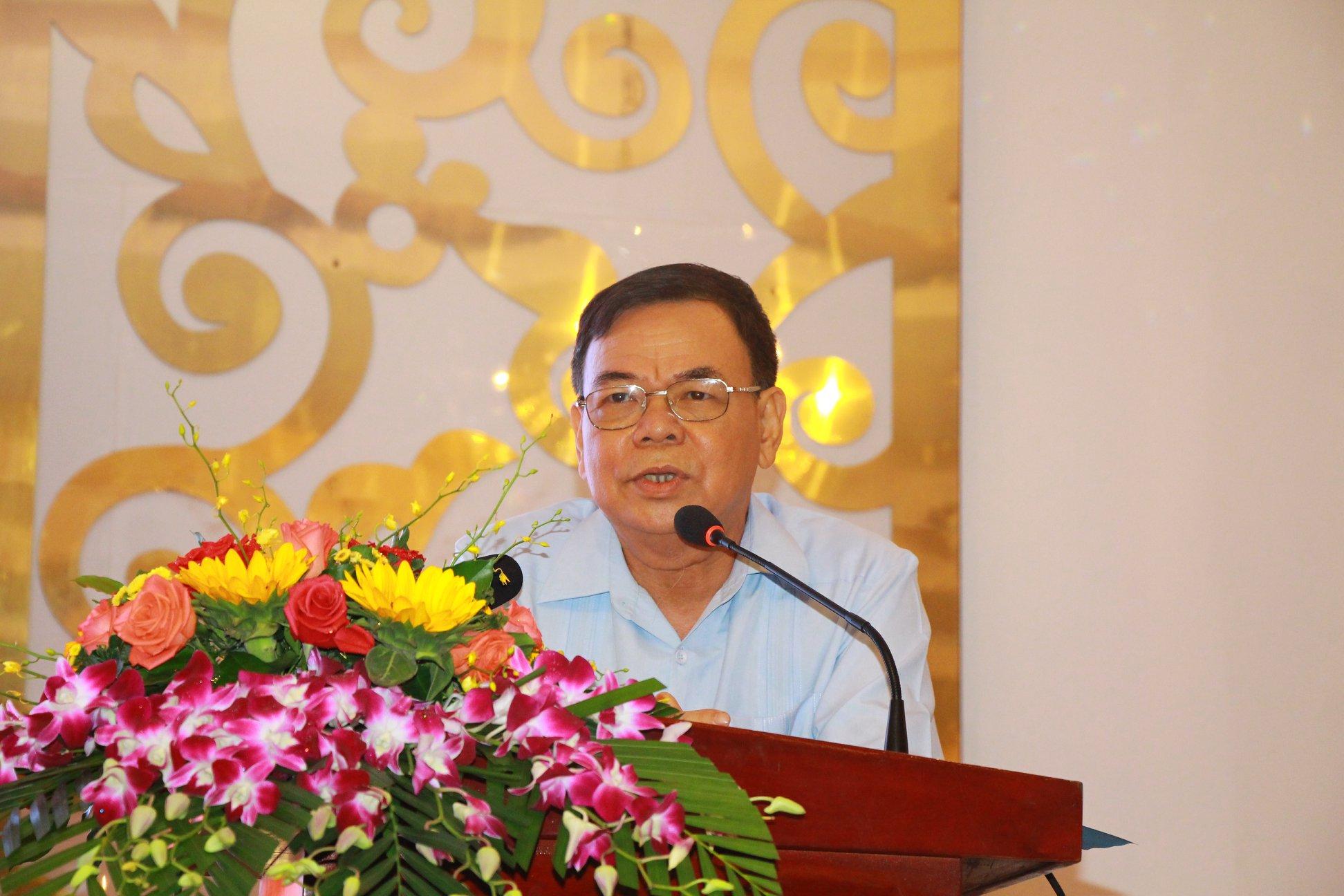 Ông Võ Thành Hạo, Bí thư Tỉnh ủy Bến Tre phát biểu tại hội nghị sơ kết Đồng khởi Khởi nghiệp. Ảnh: BTC