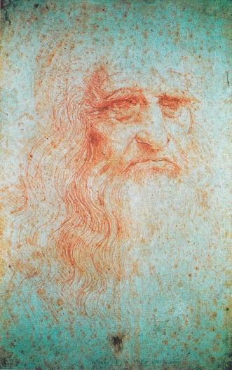 Leonardo da Vinci (1452-1519), tự-họa, có lẽ vẽ từ năm 1510 đến 1515. Ông sinh ngày 15/4/1452 tại thành phố Vinci vùng Tuscany, Ý, và mất ngày 2/5/1519 tại Château d'Amboise, Pháp. Mộ của ông hiện nay nằm tại nhà nguyện St. Hubert của Château d'Amboise.