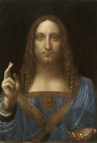 Salvator Mundi, Người cứu rỗi thế giới của Leonardo da Vinci, c.1500.