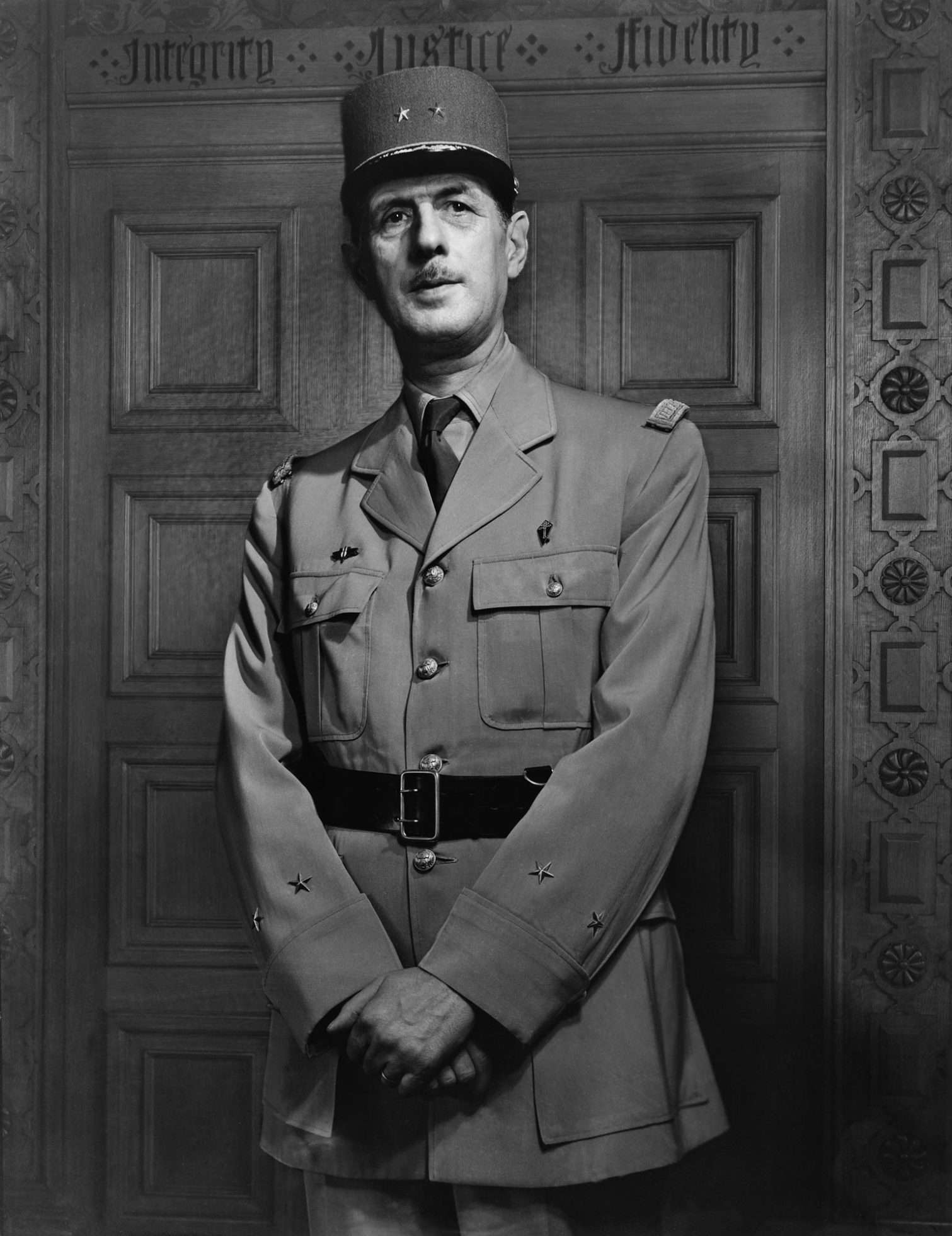 Tướng de Gaulle năm 1944. Nguồn: Ảnh: Yousut Karsh