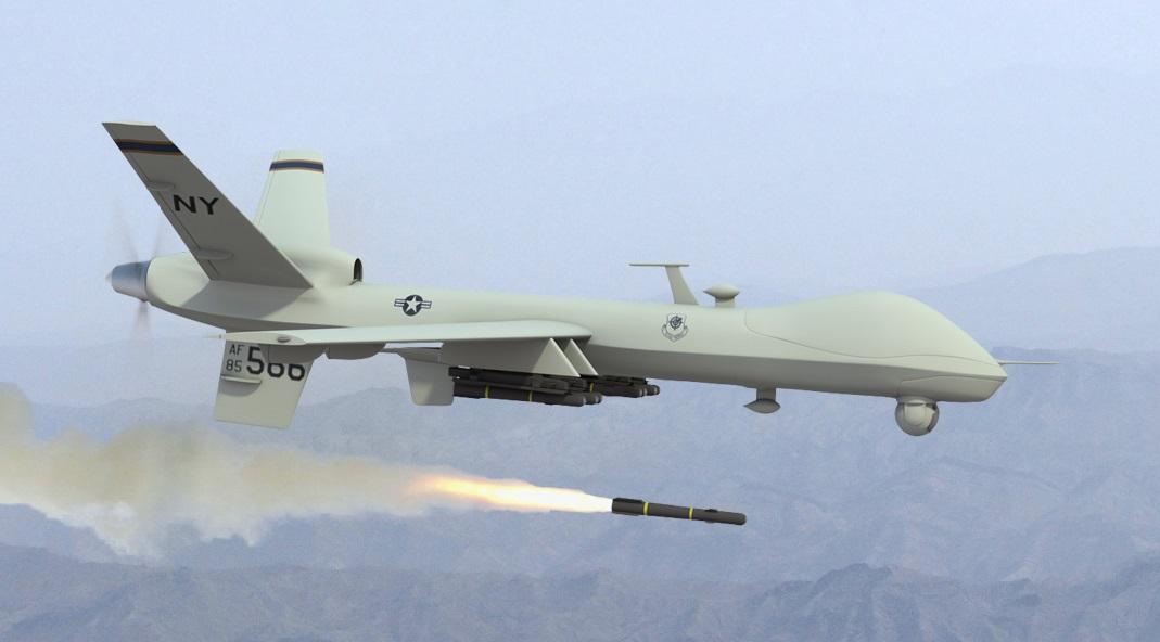 Máy bay không người lái của Mỹ phóng tên lửa tiêu diệt mục tiêu. Ảnh: Extreme Tech.