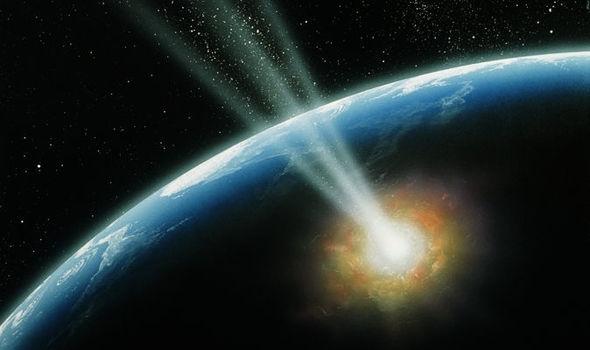 Với công nghệ hiện tại, con người không thể chặn các thiên thạch khổng lồ nếu chúng va vào Trái đất - Ảnh: Internet