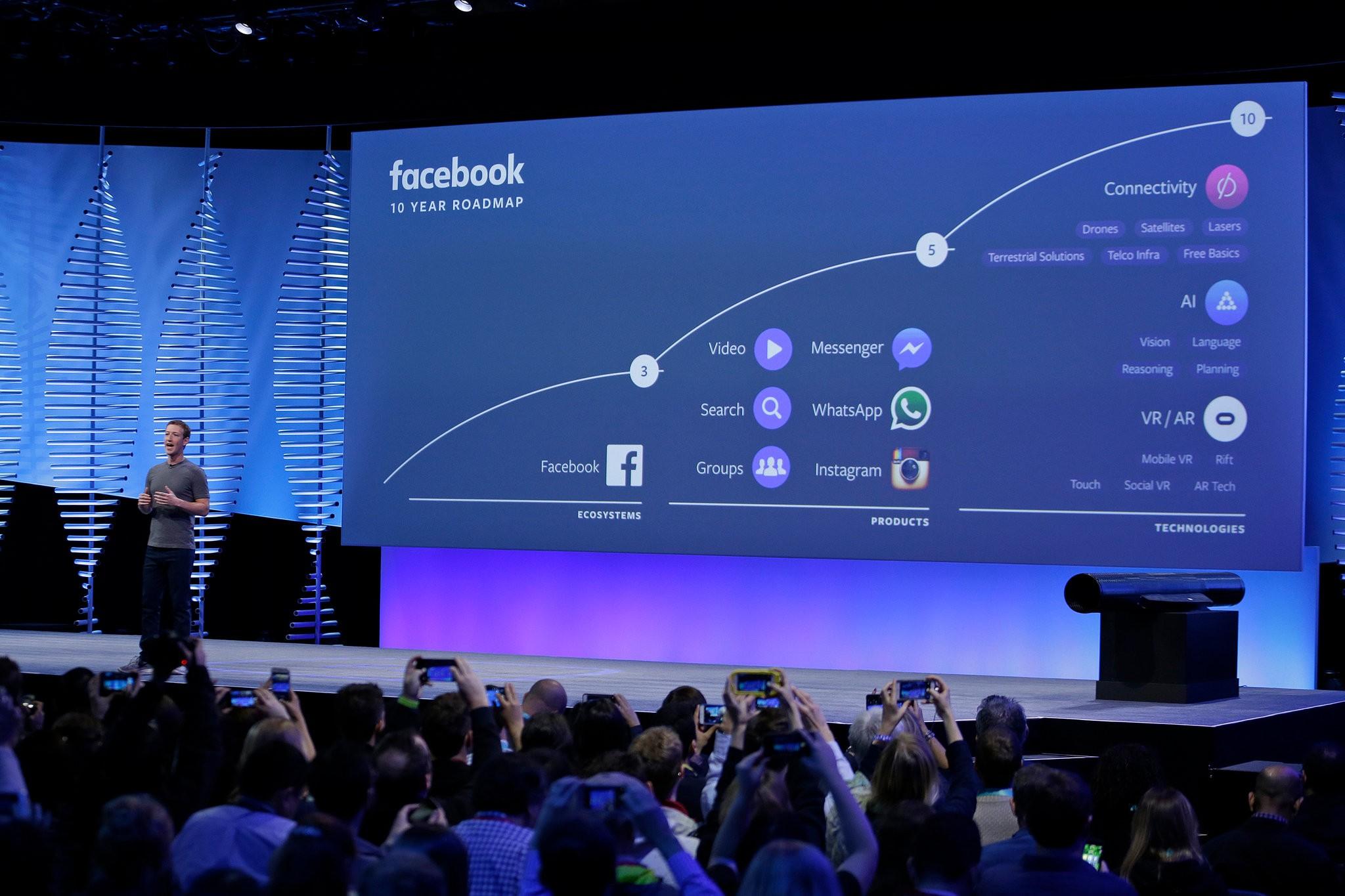 Quyền lực và sự giàu có của Facebook là do gần 2 tỷ người dùng mang lại. Ảnh: AP.