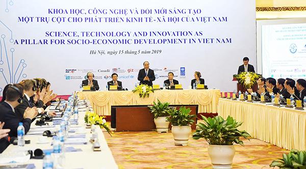 Toàn cảnh hội nghị KHCN và ĐMST ngày 15/5 | Ảnh: BTC