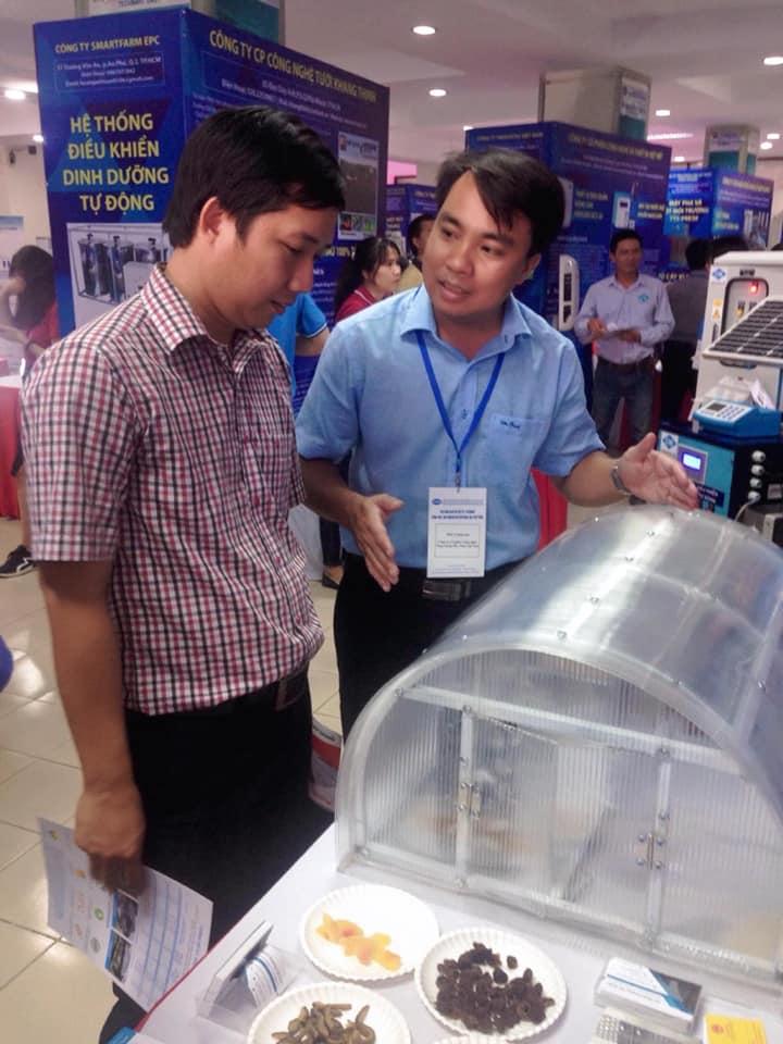 Anh Nguyễn Mạnh Tuân tại Techmart 2019.