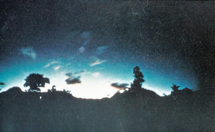 Bức ảnh nổi tiếng nhất về ánh sáng động đất được chụp tại núi Kimyo,Nhật Bản năm 1968. Ảnh: Kuribayashi