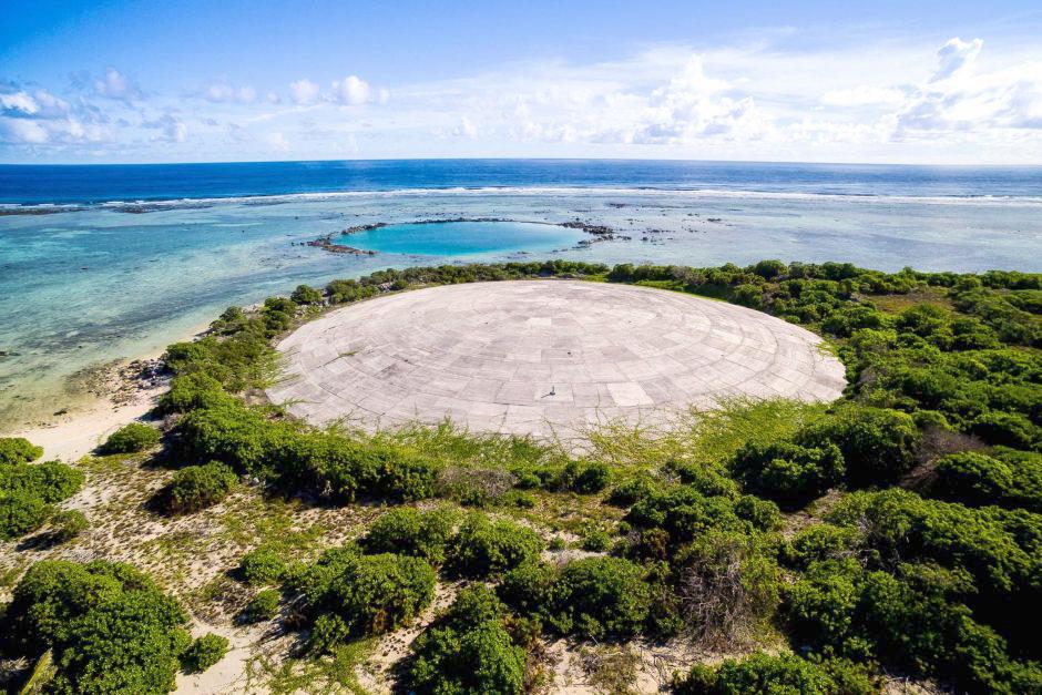 Vòm hạt nhân ở quần đảo Marshalls. Ảnh: ABC News