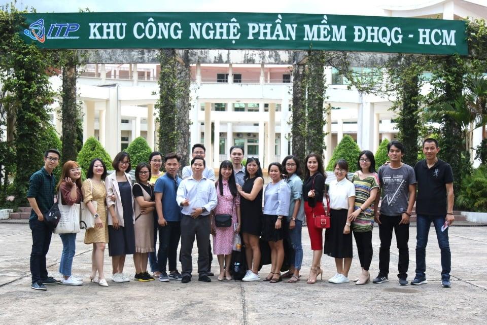 Đoàn phóng viên tham gia tập huấn tại Hồ Chí Minh trong khuôn khổ Đề án 844 | Ảnh: BTC