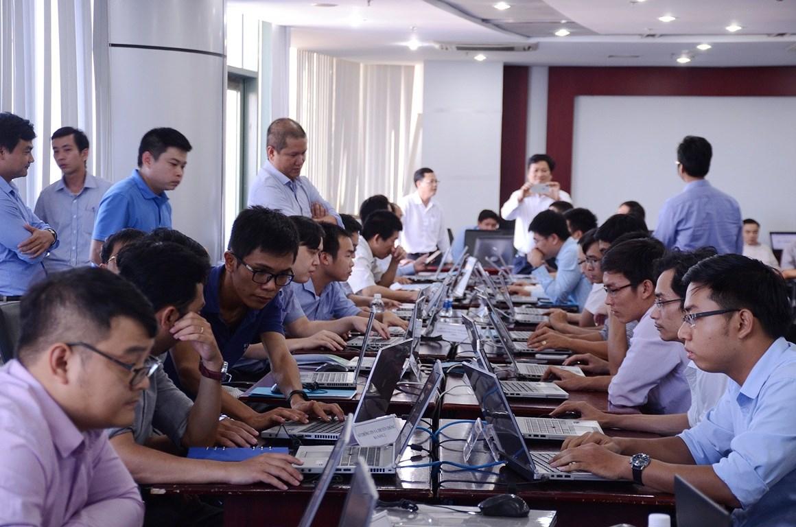 Hội thảo  Diễn tập ứng cứu sự cố an toàn thông tin mạng khu vực miền Trung và Tây Nguyên năm 2018. Ảnh: plo.vn