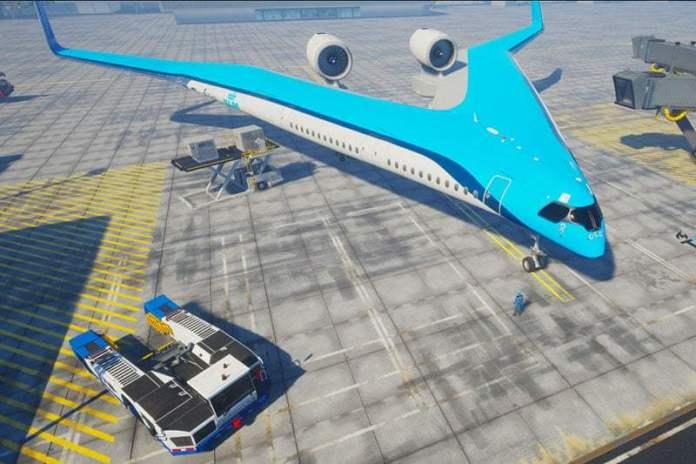 Mẫu máy bay Flying-V của KLM và TU Delft
