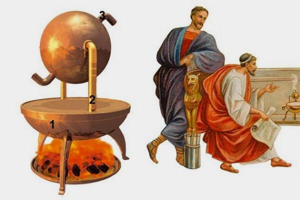Tuabin hơi nước đầu tiên trên thế giới của Hero xứ Alexandria. Ảnh: Watercheck.