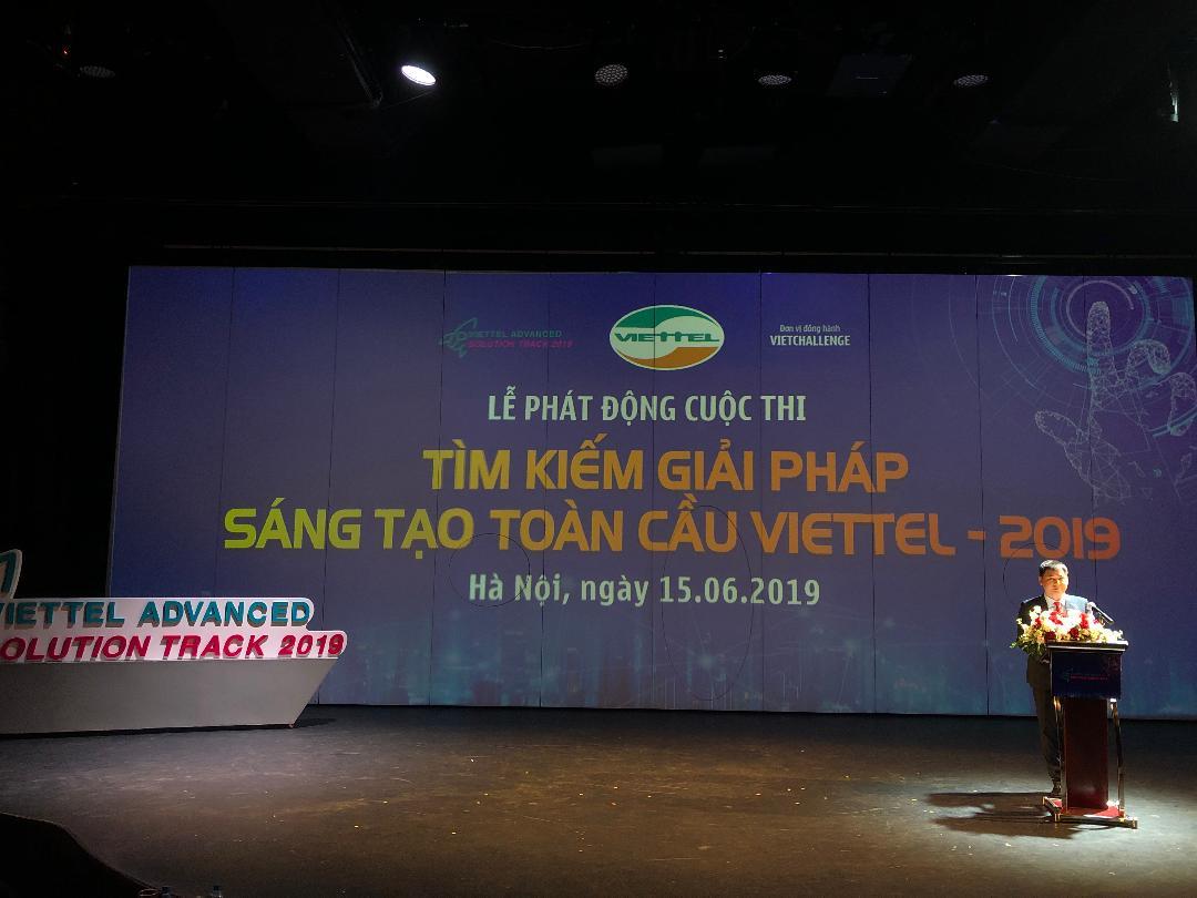 Lễ phát động cuộc thi toàn cầu Viettel Advanced Solution Track 2019 | Ảnh: VGP