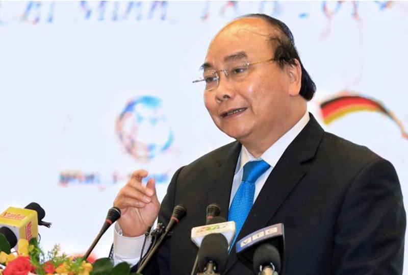 Thủ tướng Nguyễn Xuân Phúc phát biểu chỉ đạo Hội nghị Ảnh: Hữu Khoa