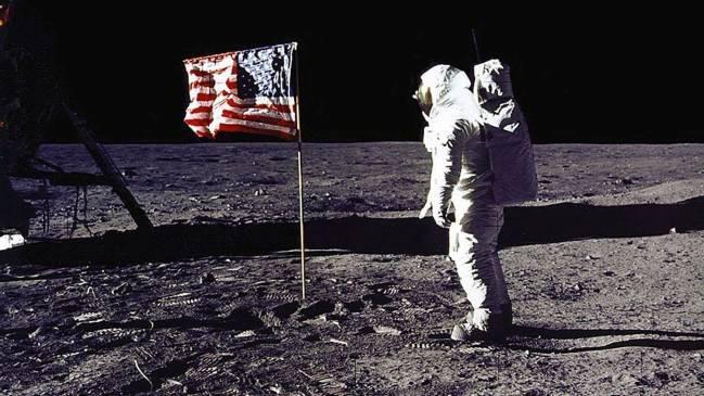 Hình ảnh một lần đổ bộ lên Mặt trăng của Mỹ - Ảnh: Sky News