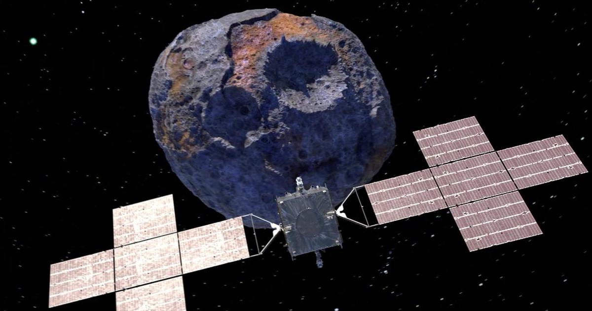 Tiểu hành tinh kim loại 16 Psyche. Ảnh: NASA.