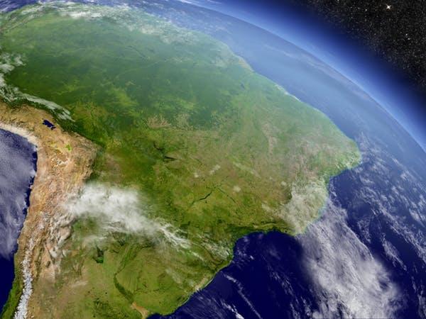 Khu vực sông Amazon, ảnh chụp từ vệ tinh. Ảnh: The Conversation.