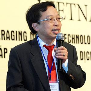 Ông Phạm Xuân Hòe, Phó viện trưởng Viện Chiến lược Ngân hàng. Ảnh:  Banking Vietnam 2018