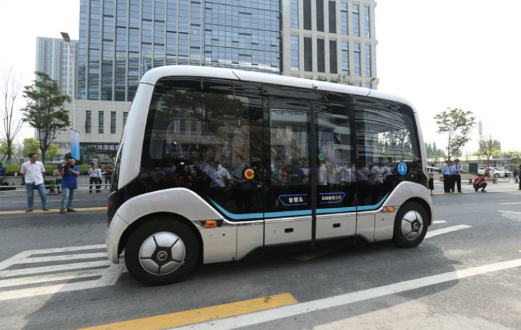 Xe buýt không người lái Xiaoyu. Ảnh: Yutong.