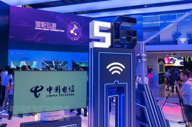Công nghệ 5G của China Telecom từng được giới thiệu tại triển lãm thế giới di động ở Thượng Hải, Trung Quốc. (Nguồn: AFP/TTXVN)