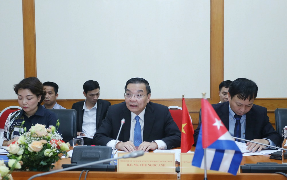 Bộ trưởng Bộ KH&CN Chu Ngọc Anh tại tọa đàm.