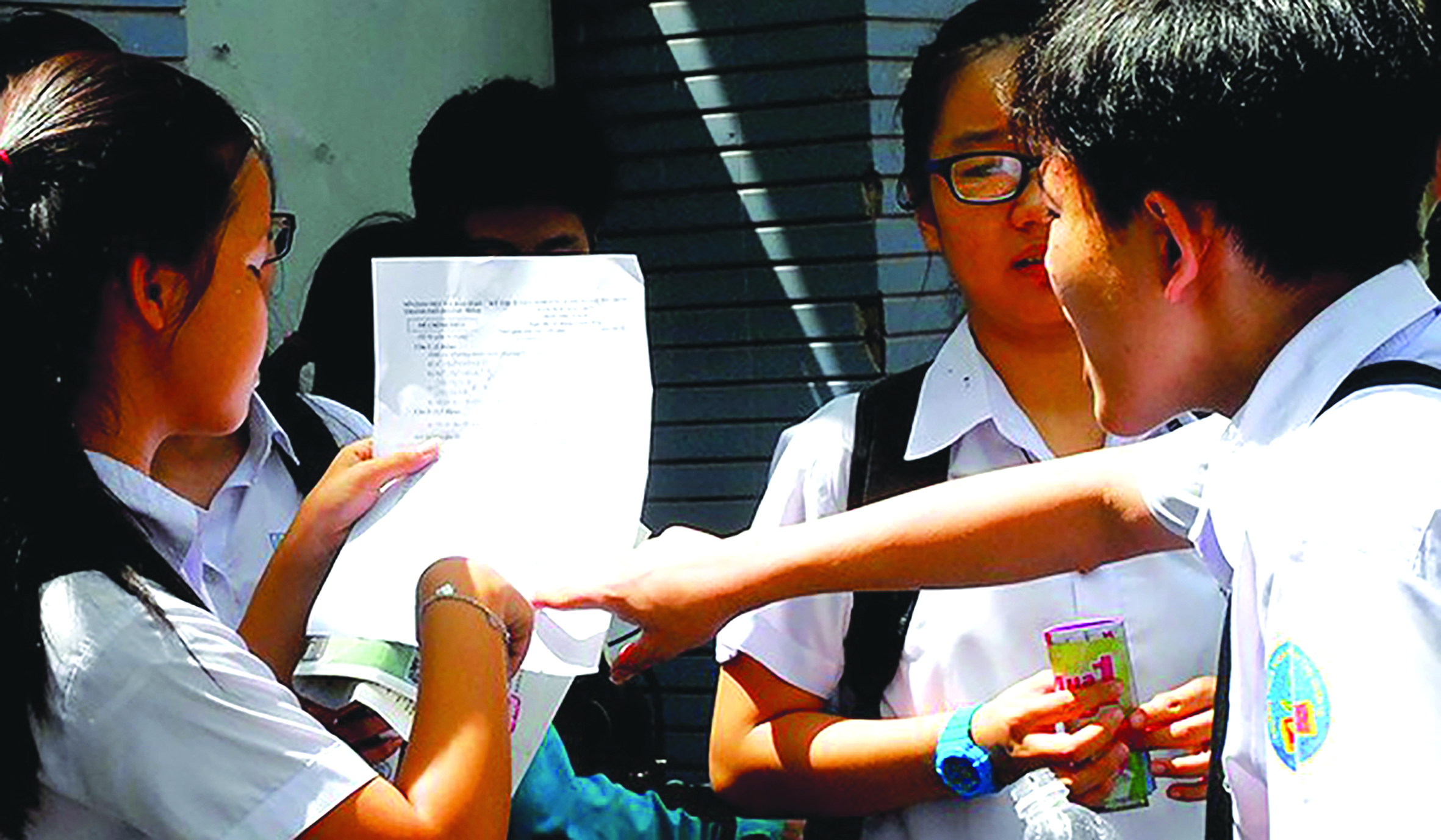 Thí sinh thi vào lớp 10 năm học 2018 - 2019 TP HCM. ảnh: Pháp luật Việt Nam.