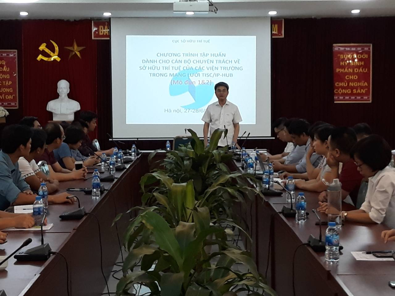 Ông Đinh Hữu Phí, Cục trưởng Cục Sở hữu trí tuệ phát biểu khai mạc.