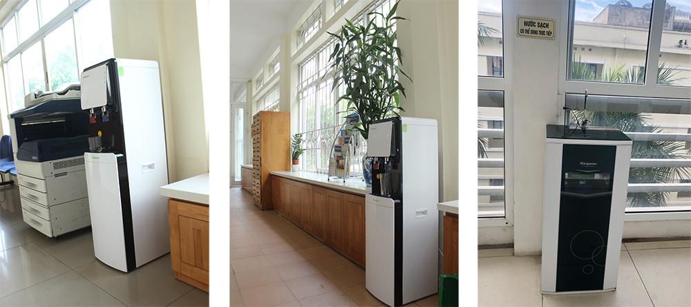 Máy lọc nước được trang bị ở văn phòng trường Đại học Giáo dục | Ảnh: UED
