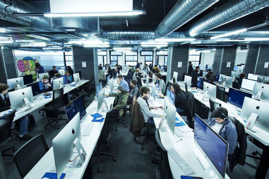 Không gian học tập ở École 42, Paris. Nguồn: proyectoidis.org