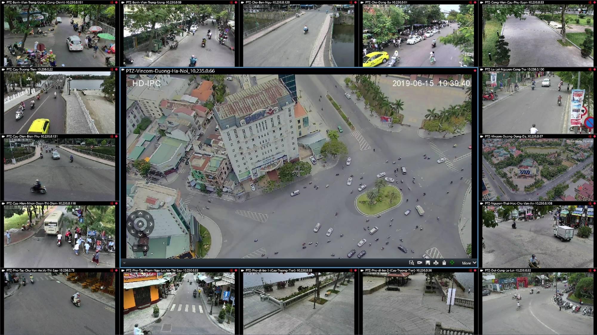 Toàn bộ hình ảnh từ hệ thống camera sẽ được chuyển về Trung tâm IOC để có thể giám sát nhiều vấn đề trong đô thị | Ảnh: IOC