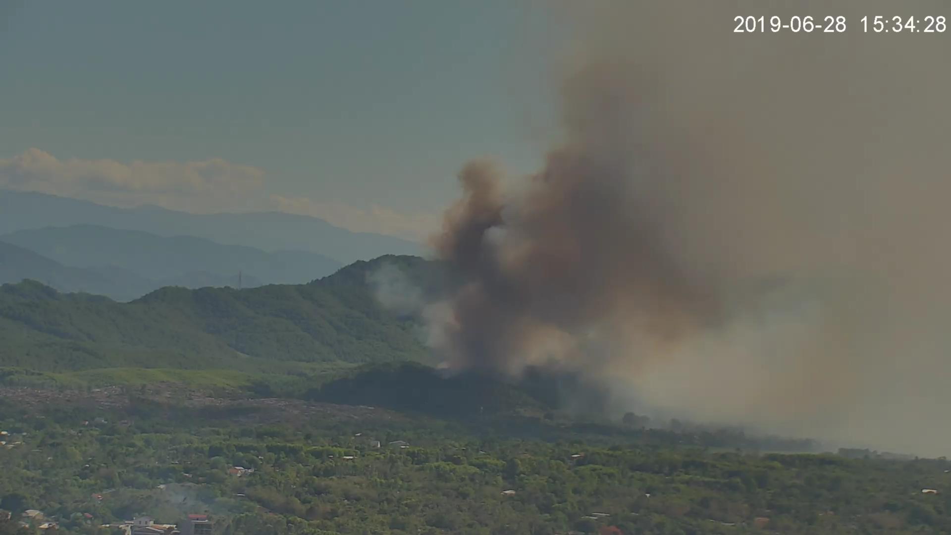 Camera tại Trung tâm IOC hỗ trợ giám sát, theo dõi vị trí, tình hình cháy rừng trong đợt nắng nóng gay gắt trên địa bàn tỉnh Thừa Thiên Huế trong những tháng vừa qua | Ảnh: IOC